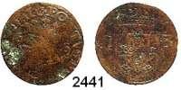 AUSLÄNDISCHE MÜNZEN,Portugal Sebastian I. 1557 - 15783 Reais o.J. (1557-1566).  Kupfer.  4,04 g.  °
