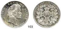 Deutsche Münzen und Medaillen,Bayern Ludwig I. 1825 - 1848Geschichtstaler 1827.  Stiftung des Ludwigs-Ordens.  Kahnt 80.  AKS 118.  Jg. 35.  Thun 53.  Dav. 560.
