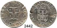 AUSLÄNDISCHE MÜNZEN,Portugal Sebastian I. 1557 - 1578100 Reis o.J.