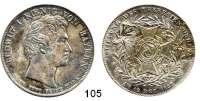 Deutsche Münzen und Medaillen,Bayern Ludwig I. 1825 - 1848Geschichtstaler PROBE 1827.  Signatur C. VOIGT.  Theresien-Orden.  Kahnt 81 f.  AKS 120.  Jg. VI.  Thun 54.  Dav. 561.
