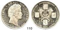 Deutsche Münzen und Medaillen,Bayern Ludwig I. 1825 - 1848Geschichtstaler 1829.  Handelsvertrag zwischen Bayern, Preußen, Württemberg und Hessen.  Kahnt 84.  AKS 124.  Jg. 39.  Thun 57.  Dav. 564.