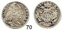 Deutsche Münzen und Medaillen,Bayern Karl Albrecht 1726 - 1745, ab 1742 König und Kaiser6 Kreuzer 1744, München.  2,96 g.  Hahn 276.  Witt. 1965.