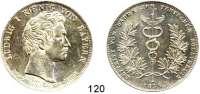 Deutsche Münzen und Medaillen,Bayern Ludwig I. 1825 - 1848Geschichtstaler 1835.  Beitritt von Baden zum Deutschen Zollverein.  Kahnt 92.  AKS 132.  Jg. 47.  Thun 65.  Dav. 573.