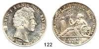 Deutsche Münzen und Medaillen,Bayern Ludwig I. 1825 - 1848Geschichtstaler 1835.  Erste Eisenbahn Nürnberg - Fürth.  Kahnt 95.  AKS 135.  Jg. 50.  Thun 68.  Dav. 576.