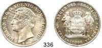 Deutsche Münzen und Medaillen,Sachsen Johann 1854 - 1873Ausbeutevereinstaler 1866 B, Dresden.  Kahnt 471.  Thun 349.   AKS 135. Jg. 127.  Dav. 896.