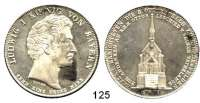 Deutsche Münzen und Medaillen,Bayern Ludwig I. 1825 - 1848Geschichtstaler 1836.  Auf die Ottokappelle zu Kiefersfelden.  Kahnt 98.  AKS 138.  Jg. 53.  Thun 71.  Dav. 579.