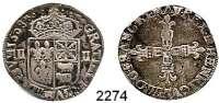 AUSLÄNDISCHE MÜNZEN,Frankreich Heinrich IV. 1589 - 1610Quart d´ecu de Bearn et Navarre.  9,43 g.  Ciani 1520.  KM 1.