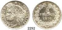 AUSLÄNDISCHE MÜNZEN,Frankreich 3. Republik 1870 - 19405 Francs 1870 A, Paris.  Schön 127.  KM 818.1.