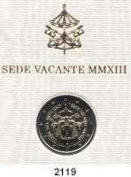 AUSLÄNDISCHE MÜNZEN,E U R O  -  P R Ä G U N G E N Vatikan2 EURO 2013.  Sede Vacante.  Schön 437.