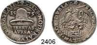 AUSLÄNDISCHE MÜNZEN,Niederlande DordrechtSilberner Rechenpfennig 1575.  Steigender Löwe mit Schild und Schwert in Umgebung. / Freiheitshut.  29 mm.  9,17 g.