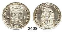 AUSLÄNDISCHE MÜNZEN,Niederlande Holland, Provinz.10 Stuiver 1749.  5,30 g.  Delmonte 1198.  KM 95.3.