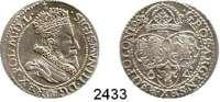 AUSLÄNDISCHE MÜNZEN,Polen Sigismund III. 1587 - 1632VI Gröscher 1599, Marienburg.  4,49 g.  Gum. 1153.