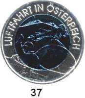 Österreich - Ungarn,Österreich 2. Republik ab 194525 EURO 2007 (Bi-Metall Silber/Niob).  Luftfahrt.  Schön 335.  KM 3147.  Im Originaletui mit Zertifikat.