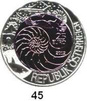 Österreich - Ungarn,Österreich 2. Republik ab 194525 EURO 2012 (Bi-Metall Silber/Niob).  Bionik.  Schön 393.  KM 3212.  Im Originaletui mit Zertifikat.