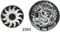 AUSLÄNDISCHE MÜNZEN,Kanada LOTS     LOTS     LOTS50 Cents 2007; Dollar 1999, 2005, 2008, 2011; 3 Dollars 2011.  Schön 344, 615, 707, 768, 1020.  KM 355, 549, 715, 781, 1087, 1123.  Jeweils im Originaletui mit Zertifikat.  LOT 6 Stück.