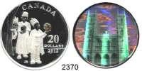 AUSLÄNDISCHE MÜNZEN,Kanada LOTS     LOTS     LOTS5 Dollars 2006; 10 Dollars 2005; 20 Dollars 2006, 2012, 2014.  Schön 624, 668, 678.  KM 559, 589, 658, 1334, 1926.  Jeweils im Originaletui mit Zertifikat.  LOT 5 Stück.