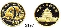 AUSLÄNDISCHE MÜNZEN,China Volksrepublik seit 194950 Yuan 1987