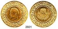 AUSLÄNDISCHE MÜNZEN,Türkei Republik seit 1923250 Piaster 1947  (16,54g FEIN).  Schön 392.  KM 878.  Fb.105.  GOLD.