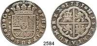 AUSLÄNDISCHE MÜNZEN,Spanien Philipp V. 1700 - 17468 Reales 1731 S/PA, Sevilla.  26,74 g.  Cayón 9342.  Dav. 1697.  KM 357/358.