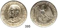 M E D A I L L E N,Personen Hitler, AdolfSilbermedaille 1933 (Oskar Glöckler).  Auf die Machtergreifung.  Brustbild von vorn links. / Adler sprengt Ketten. Colbert / Hyder C-30. 36 mm.  21,70 g. Rand: PREUSS. STAATSMUENZE SILBER 900 FEIN.