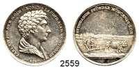 AUSLÄNDISCHE MÜNZEN,Schweden Karl XIV. 1818 - 1844Silbermedaille 1827 (L. P. Lundgren).  Landwirtschafts Akademie.  Kopf n. r. / Ochsengespann auf Feld.  30,6 mm.  12,96 g.