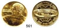 M E D A I L L E N,Sport Goldmedaille 1962.  Fußball-Weltmeisterschaft in Chile.  30,1 mm.  17,41 g.