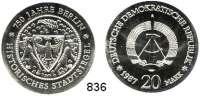 Deutsche Demokratische Republik   PP-Patina !!!!!, 20 Mark 1987.    Stadtsiegel.