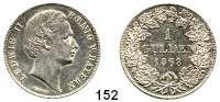 Deutsche Münzen und Medaillen,Bayern Ludwig II. 1864 - 18861 Gulden 1868.  AKS 178.  Jg. 103.