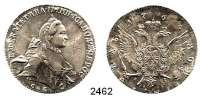 AUSLÄNDISCHE MÜNZEN,Russland Katharina II. 1762 - 1796Rubel 1765, St. Petersburg (Ivanov).  23,61 g.  Bitkin 187.  Craig 67.2 a.  Dav.1683
