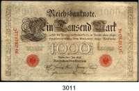P A P I E R G E L D,K A I S E R R E I C H 1000 Mark 1.7.1898.  Ros. DEU-14.