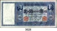 P A P I E R G E L D,K A I S E R R E I C H 100 Mark 7.2.1908.