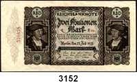 P A P I E R G E L D,Weimarer Republik 2 Millionen Mark  23.7.1923.  Fehldruck