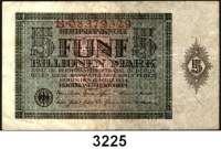 P A P I E R G E L D,Weimarer Republik 5 Billionen Mark 15.3.1924.  Serie: B.  Ros. DEU 172.