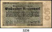 P A P I E R G E L D,R E N T E N B A N K 100 Rentenmark 1.11.1923.  Serie A.  Ros. DEU-204.