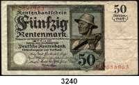 P A P I E R G E L D,R E N T E N B A N K 50 Rentenmark 20.3.1925.