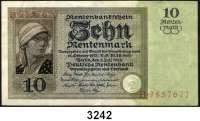 P A P I E R G E L D,R E N T E N B A N K 10 Rentenmark 3.7.1925.  Serie B.  Ros. DEU-208.