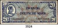 P A P I E R G E L D,BUNDESREPUBLIK DEUTSCHLAND 20 Deutsche Mark o.D.(20.6.1948).  LIBERTY  Ros. WBZ-9 a.