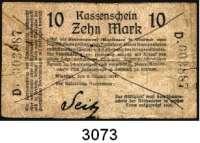 P A P I E R G E L D,D E U T S C H E      K O L O N I E N Deutsch - Südwestafrika10 Mark 8.8.1914.