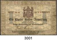 P A P I E R G E L D,Altdeutsche Staaten und Länderbanknoten Preussen1 Thaler.  13.2.1861.  Pick/Rixen A 222 a.