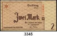 P A P I E R G E L D,L A G E R G E L D Litzmannstadt50 Pfennig (gebraucht), 1 Mark (kaum gebraucht) und 2 Mark (Büge, sonst kaum gebraucht).  Ros. GET-1, 2, 3.  Grabowski Li 1, 2, 3.  LOT 3 Scheine.