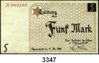 P A P I E R G E L D,L A G E R G E L D Litzmannstadt5 Mark 15.5.1940.  Ros. GET-4 a.  Grabowski Li 4 a.