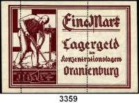 P A P I E R G E L D,L A G E R G E L D Oranienburg1 Mark o.D.  Mit zweifacher Perforation.  Grabowski Or 4 b.