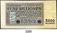 P A P I E R G E L D,Weimarer Republik 5 Billionen Mark 1.11.1923.  Serie C.  Ros. DEU-156 a.