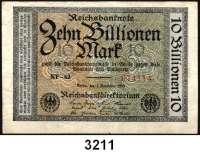 P A P I E R G E L D,Weimarer Republik 10 Billionen Mark 1.11.1923.  FZ: NF-62.  Ros. DEU-160 b.