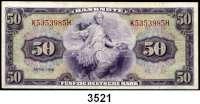 P A P I E R G E L D,BUNDESREPUBLIK DEUTSCHLAND 50 Deutsche Mark 1948.  K...H.  Ros. WBZ-7.