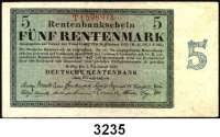 P A P I E R G E L D,R E N T E N B A N K 5 Rentenmark 1.11.1923.  KN 7-stellig.  Serie T.  Ros. DEU-201 b.