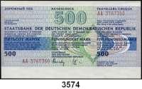 P A P I E R G E L D,D D R Reiseschecks zu 50 Mark (eingelöst, wenig gebraucht, 20x), 200 Mark (blanko, fast kassenfrisch, 20x) und 500 Mark (blanko, fast kassenfrisch, 20x)  LOT 60 Stück.