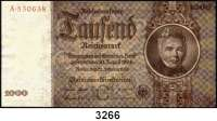 P A P I E R G E L D,R E I C H S B A N K 1000 Reichsmark 22.2.1936.  G/A.  Ros. DEU-212.