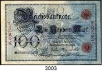 P A P I E R G E L D,K A I S E R R E I C H 100 Mark 1.3.1895.  0087961 C.  Ros. DEU-9.  Farbfrischer Schein.