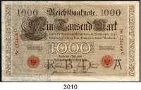 P A P I E R G E L D,K A I S E R R E I C H 1000 Mark 1.7.1898.  A/C.  Unterdruckbuchstabe A dunkel.  Ros. DEU-14.